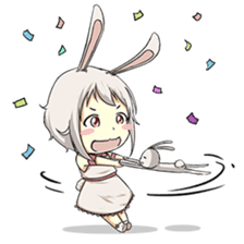 Little Bunny Girl sticker #13304829