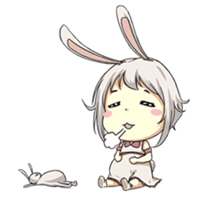 Little Bunny Girl sticker #13304832