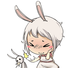 Little Bunny Girl sticker #13304836