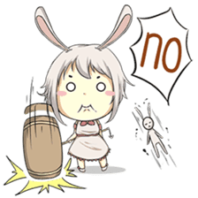 Little Bunny Girl sticker #13304838