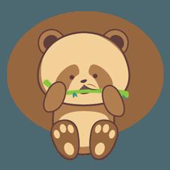 cute brown panda