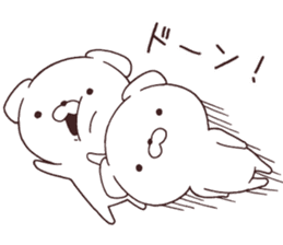 Daily Lives of cute white dogs part2! sticker #13316630