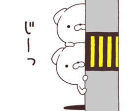 Daily Lives of cute white dogs part2! sticker #13316634