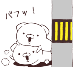 Daily Lives of cute white dogs part2! sticker #13316635