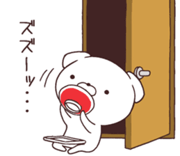Daily Lives of cute white dogs part2! sticker #13316640