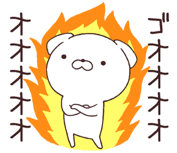 Daily Lives of cute white dogs part2! sticker #13316643