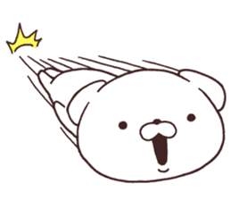 Daily Lives of cute white dogs part2! sticker #13316646