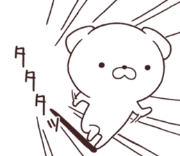 Daily Lives of cute white dogs part2! sticker #13316658
