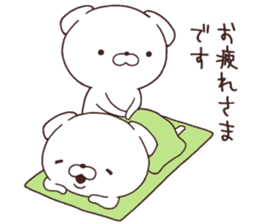 Daily Lives of cute white dogs part2! sticker #13316668