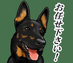 Mr. shepherd 3 Police dog Real style. sticker #13346823