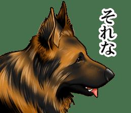 Mr. shepherd 3 Police dog Real style. sticker #13346835
