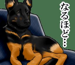 Mr. shepherd 3 Police dog Real style. sticker #13346842