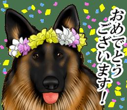 Mr. shepherd 3 Police dog Real style. sticker #13346845