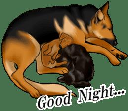 Mr. shepherd 3 Police dog Real style. sticker #13346848