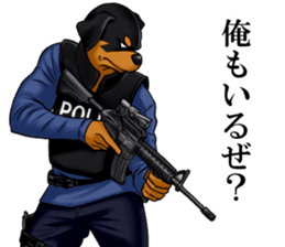 Mr. shepherd 3 Police dog Real style. sticker #13346853