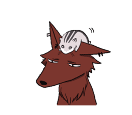 Wolf and Hamster sticker #13355510