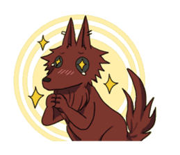 Wolf and Hamster sticker #13355530