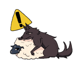 Wolf and Hamster sticker #13355541