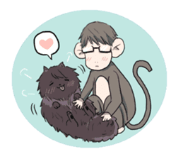 Wolf and Hamster sticker #13355545