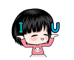 NE NE cute girl sticker #13356094