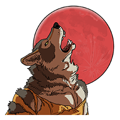 Werewolf Sticker by Gunso