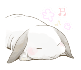 Taremimi rabbit mix! sticker #13359511