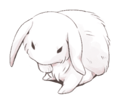 Taremimi rabbit mix! sticker #13359514