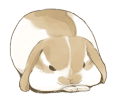 Taremimi rabbit mix! sticker #13359519