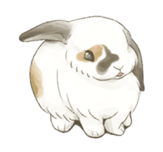 Taremimi rabbit mix! sticker #13359526