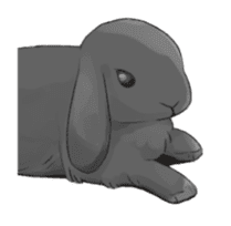 Taremimi rabbit mix! sticker #13359531
