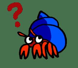 Spotted garden eel and Hermit crab sticker #13363946