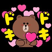 สติ๊กเกอร์ไลน์ Brown & Cony Heart Melting Romance