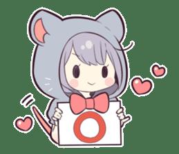 LOVELY TINY MOUSE 2 sticker #13378482