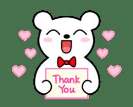 Bow Tie Bear Animated sticker #13385727