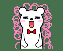 Bow Tie Bear Animated sticker #13385730