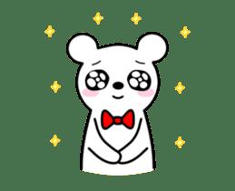 Bow Tie Bear Animated sticker #13385733