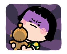 Mobile Girl, MiM - v3 (Halloween) sticker #13399675