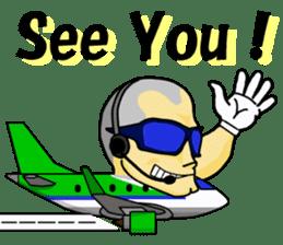 Funny Jet Pilot 2 sticker #13403810