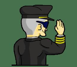 Funny Jet Pilot 2 sticker #13403811