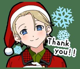 Christmas & New Year boy sticker #13409806