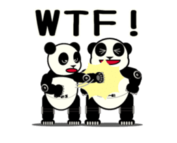 Move! ROBO Panda English sticker #13413878