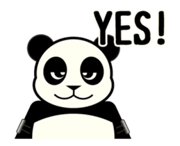 Move! ROBO Panda English sticker #13413880