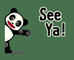 Move! ROBO Panda English sticker #13413885