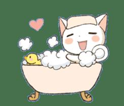 Lovely whitecat Sticker sticker #13413889