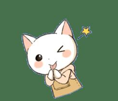 Lovely whitecat Sticker sticker #13413892