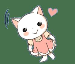 Lovely whitecat Sticker sticker #13413893