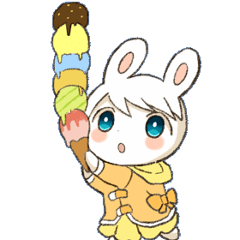 Pretty rabbit Sticker01