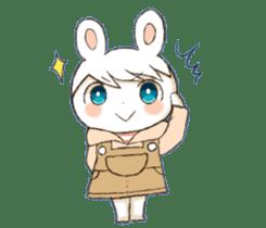 Pretty rabbit Sticker01 sticker #13415159