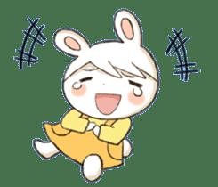 Pretty rabbit Sticker01 sticker #13415160