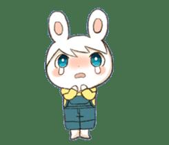 Pretty rabbit Sticker01 sticker #13415161